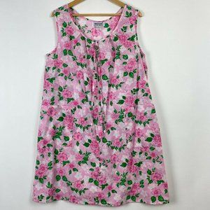 Anthony Richards 1X Pink Floral House Dress Lounge
